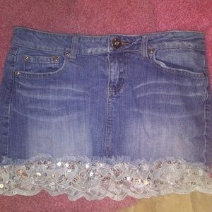 Cute jean lace skirt